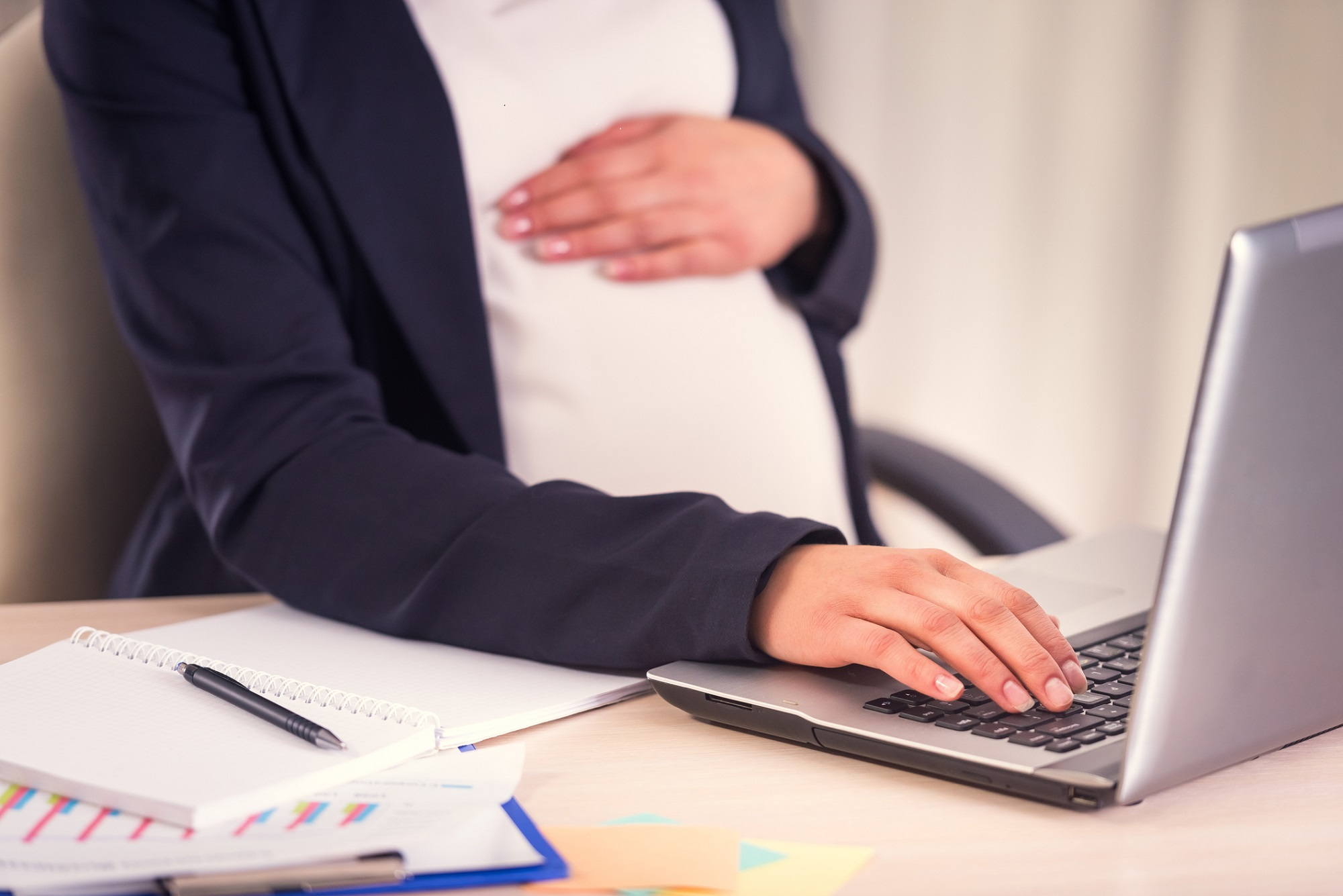 Pregnant Business Woman